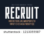 condensed simple display font... | Shutterstock .eps vector #1213355587