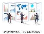 concept of business charts and... | Shutterstock . vector #1213360507