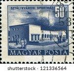 hungary   circa 1953  a stamp... | Shutterstock . vector #121336564