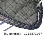 view from below of the metallic ... | Shutterstock . vector #1213371097