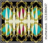 scarf pattern . scarf design... | Shutterstock . vector #1213380637