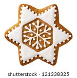 christmas gingerbread isolated... | Shutterstock . vector #121338325