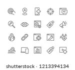 simple set of seo related... | Shutterstock .eps vector #1213394134