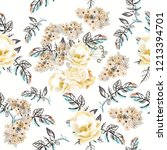 beautiful vector flower pattern ... | Shutterstock .eps vector #1213394701