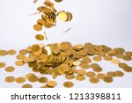 movement of falling gold coin ... | Shutterstock . vector #1213398811