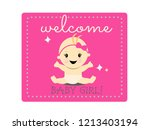 celebration welcome for baby... | Shutterstock .eps vector #1213403194