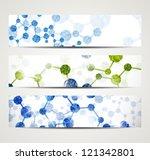 eps10  dna banner   Shutterstock .eps vector #121342801