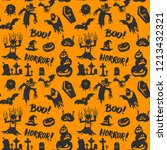halloween orange festive... | Shutterstock .eps vector #1213432321