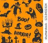 halloween orange festive... | Shutterstock .eps vector #1213432324