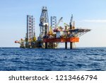 drilling rig is installed side... | Shutterstock . vector #1213466794