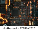 pcb microchip and integrated...   Shutterstock . vector #1213468957
