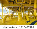offshore pipe  riser and... | Shutterstock . vector #1213477981