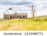 old abandoned building in the... | Shutterstock . vector #1213480771