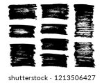 brush lines set. vector... | Shutterstock .eps vector #1213506427