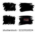 brush lines set. vector... | Shutterstock .eps vector #1213510324