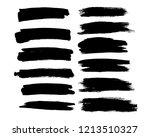 brush lines set. vector... | Shutterstock .eps vector #1213510327