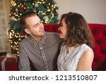 beautiful young couple... | Shutterstock . vector #1213510807
