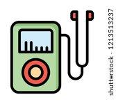 audio player   mp3   earphone   | Shutterstock .eps vector #1213513237