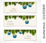 merry christmas banner | Shutterstock .eps vector #121352845