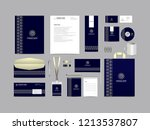corporate identity set template ... | Shutterstock .eps vector #1213537807