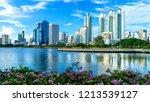 bangkok city   cityscape... | Shutterstock . vector #1213539127