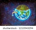water crisis  water shortage... | Shutterstock . vector #1213543294
