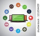 cloud computing concept | Shutterstock .eps vector #121354459