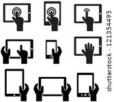 icon set tablets and gadgets... | Shutterstock .eps vector #121354495