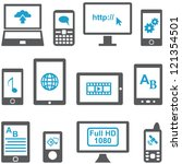 icons set computers and mobile... | Shutterstock .eps vector #121354501