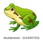 Cute Frog Cartoon Illustration...