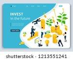 website landing page isometric...   Shutterstock .eps vector #1213551241
