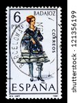 spain   circa 1967  a stamp... | Shutterstock . vector #121356199