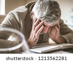 power is running out. senior...   Shutterstock . vector #1213562281