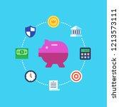 saving money  investment ...   Shutterstock .eps vector #1213573111