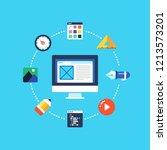 web design  creative web...   Shutterstock .eps vector #1213573201