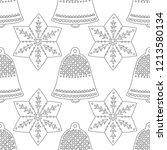 gingerbread  bells. black and... | Shutterstock .eps vector #1213580134