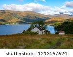 cottage along the west highland ... | Shutterstock . vector #1213597624