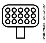 stadium floodlights line icon... | Shutterstock .eps vector #1213603354