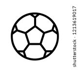 football or a soccer ball line... | Shutterstock .eps vector #1213619017
