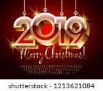 vector luxury merry christmas... | Shutterstock .eps vector #1213621084