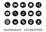 web icon set vector  contact us ... | Shutterstock .eps vector #1213631944