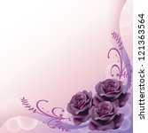 Purple Roses Background Patter...