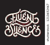 hand drawn lettering concept... | Shutterstock .eps vector #1213652467