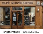 montmartre   october 6. 2016 ... | Shutterstock . vector #1213669267