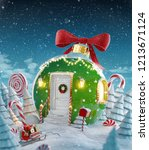 amazing fairy house decorated... | Shutterstock . vector #1213671124