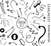 hand drawn vector arrows set.... | Shutterstock .eps vector #1213676911