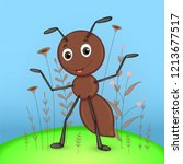 gift postcard with cartoon... | Shutterstock .eps vector #1213677517