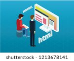 web desig concept   Shutterstock .eps vector #1213678141