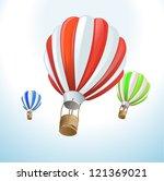 hot air balloons | Shutterstock .eps vector #121369021