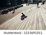 paris  france  october 5   2016 ... | Shutterstock . vector #1213691311